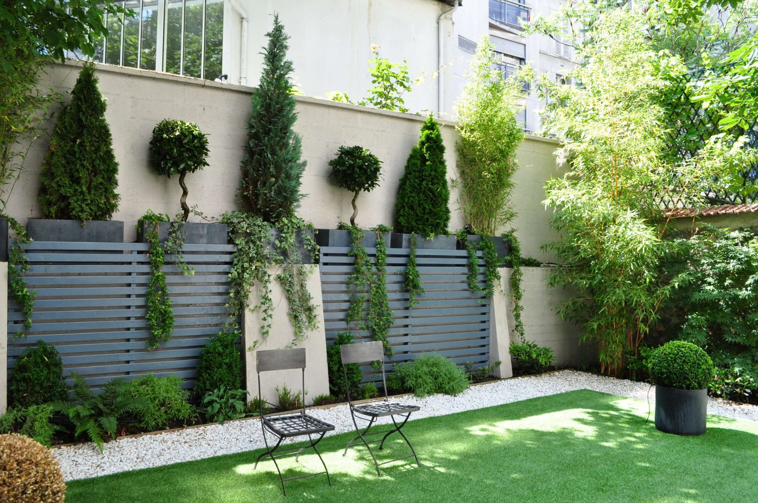 Jardin contemporain for Jardin maison contemporaine